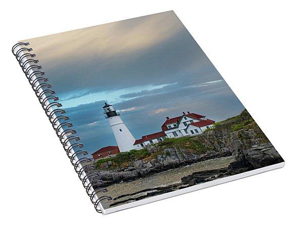 Rainbow Over Portland Head Light Spiral Notebook