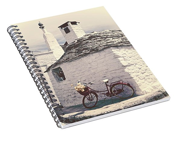 Red Bicycle Spiral Notebook