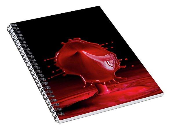 Red Drop Spiral Notebook