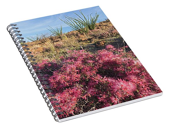 Red Fairy Duster Spiral Notebook