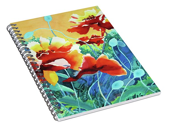 Red Hot Cool Blue Spiral Notebook