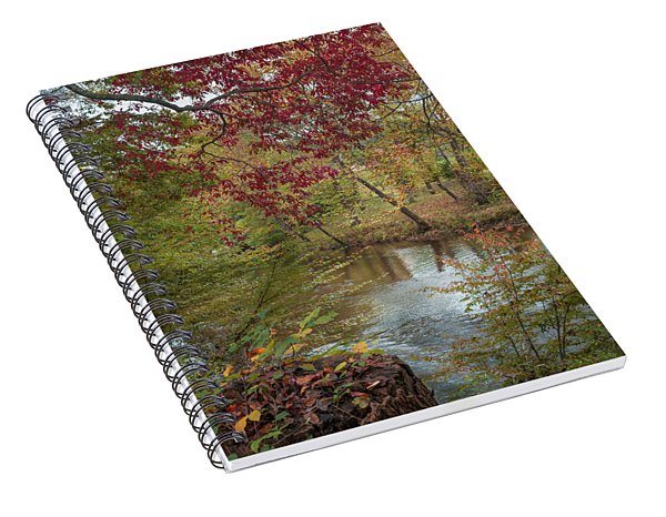 Red Leaves Of Autumn Spiral Notebook