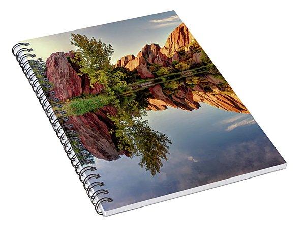 Red Rocks Reflection Spiral Notebook