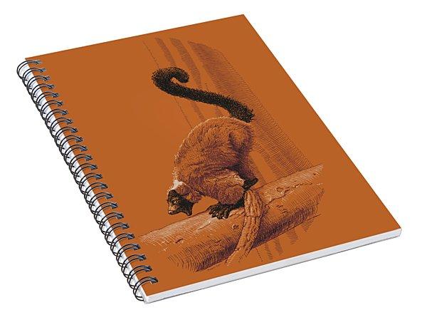 Screaming Lemur Spiral Notebook