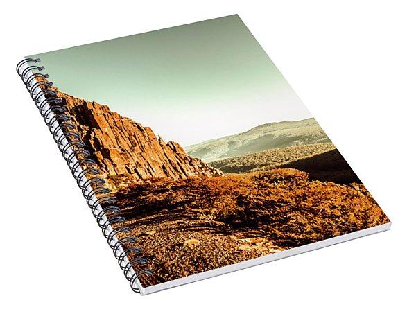 Red Rural Road Spiral Notebook