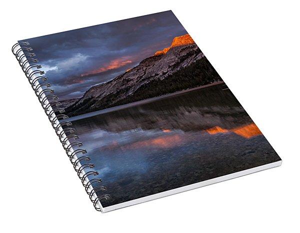 Red Sunset At Tenaya Spiral Notebook