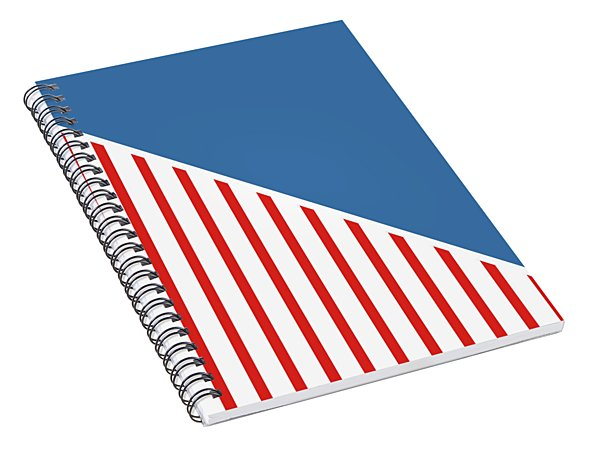 Red White And Blue Triangles Spiral Notebook