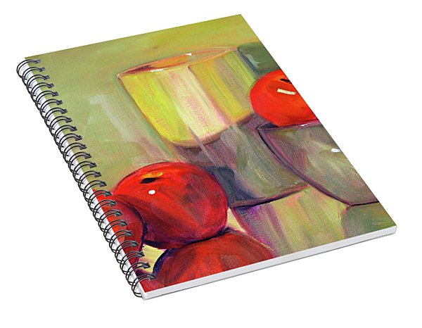 Red With Green Spiral Notebook