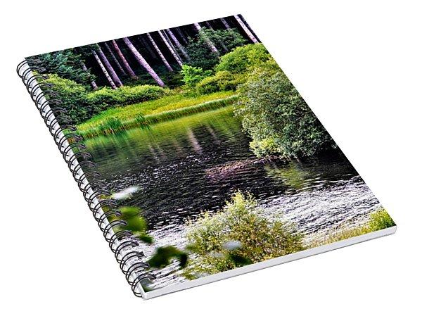 Reflections On Kielder Water Spiral Notebook