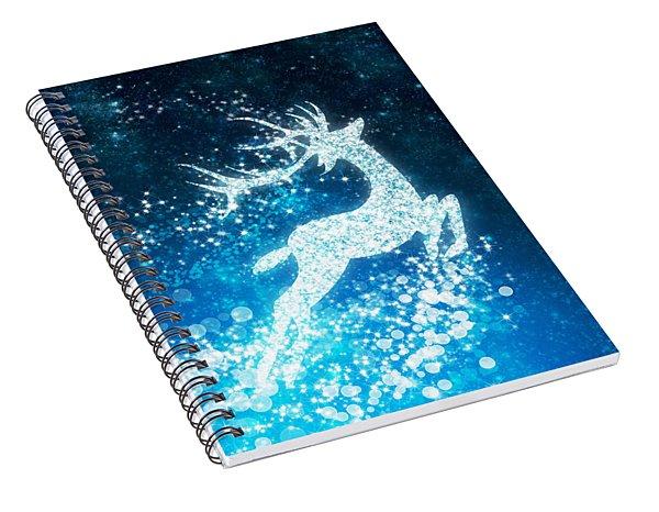 Reindeer Stars Spiral Notebook