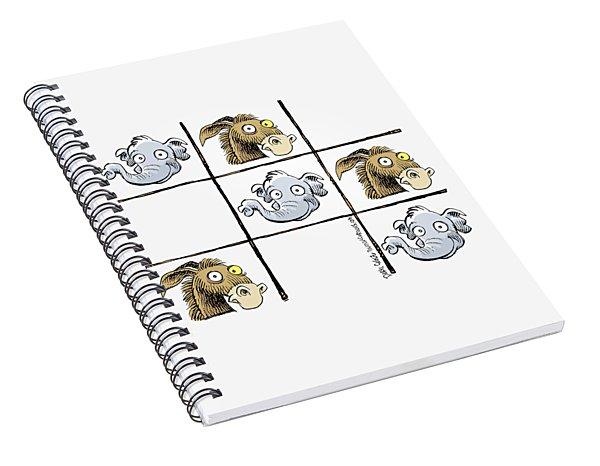 Republicans Win Tic Tac Toe Spiral Notebook