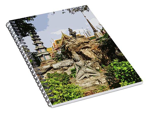 Reusi Dat Ton Statues At Wat Pho Spiral Notebook