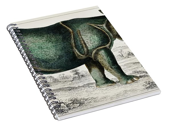 Rhinoceros From A History Of The Earth And Animated Nature Spiral Notebook