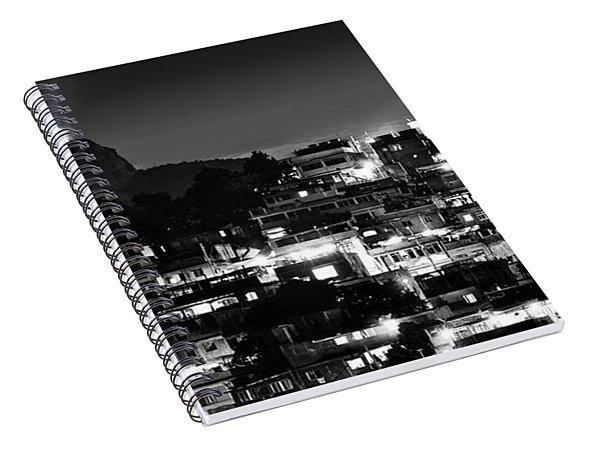 Rio De Janeiro - Christ The Redeemer On Corcovado, Mountains And Slums Spiral Notebook
