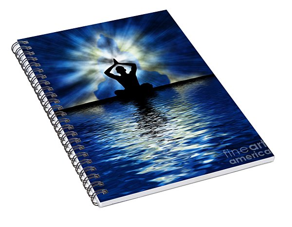 Ripple On An Ocean Spiral Notebook