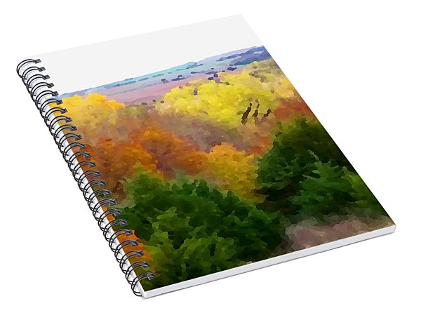 River Bottom In Autumn Spiral Notebook