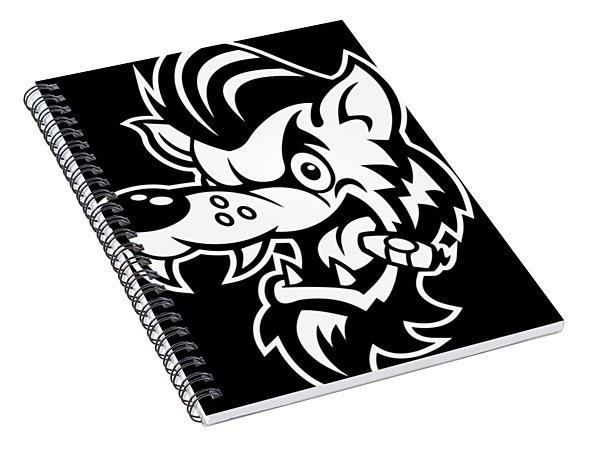 Rockabilly Wolf Head Spiral Notebook