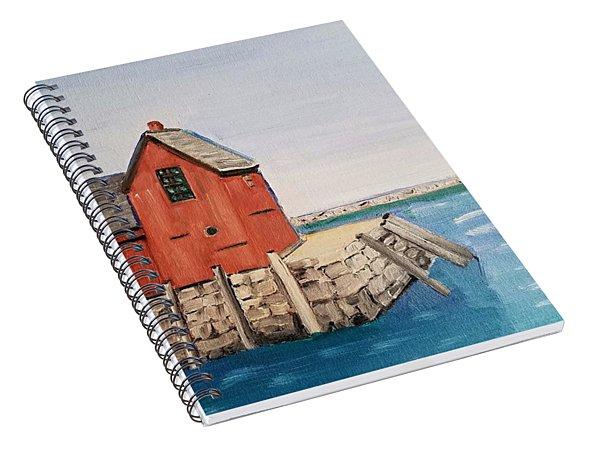 Rockport Motif In Winter Spiral Notebook