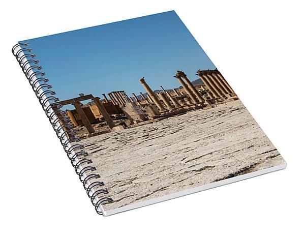 Spiral Notebook featuring the photograph Roman Ruins At Ajloun by Mae Wertz