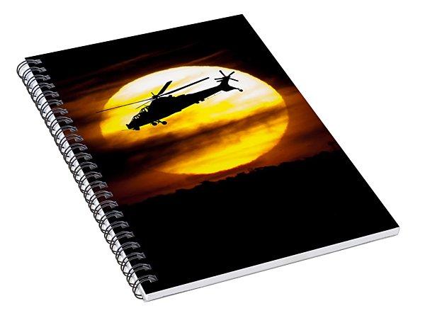Rooivalk Sunset Spiral Notebook
