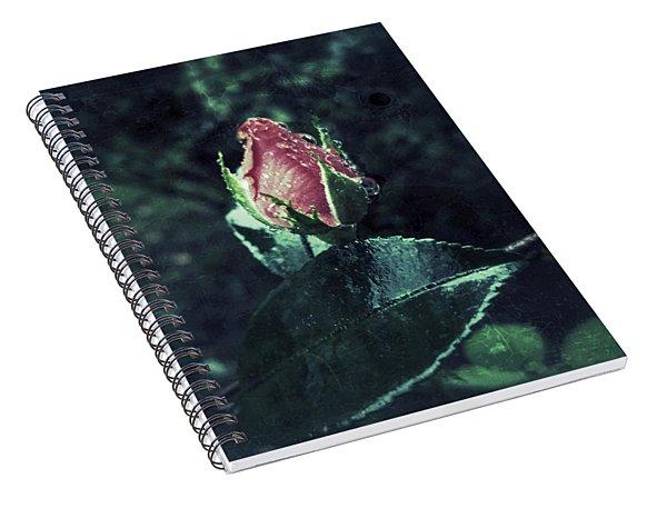 Rosebud Rain Drops Spiral Notebook