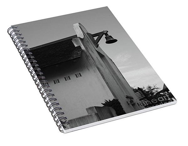 Rosemary Beach Post Office In Black And White Spiral Notebook
