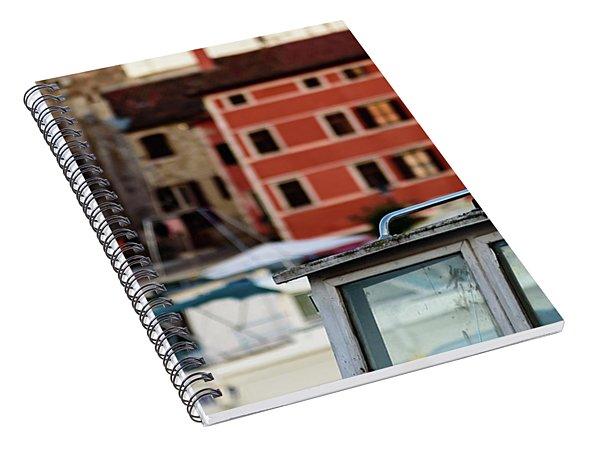 Rovinj Harbor Seagull - Rovinj, Istria, Croatia Spiral Notebook