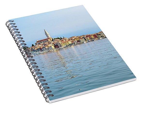 Rovinj In The Early Morning Fog, Istria, Croatia Spiral Notebook