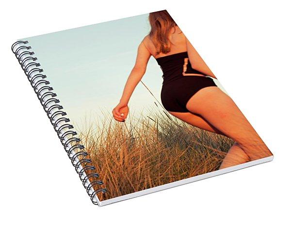 Running Unsharp In The Golden Hour Spiral Notebook