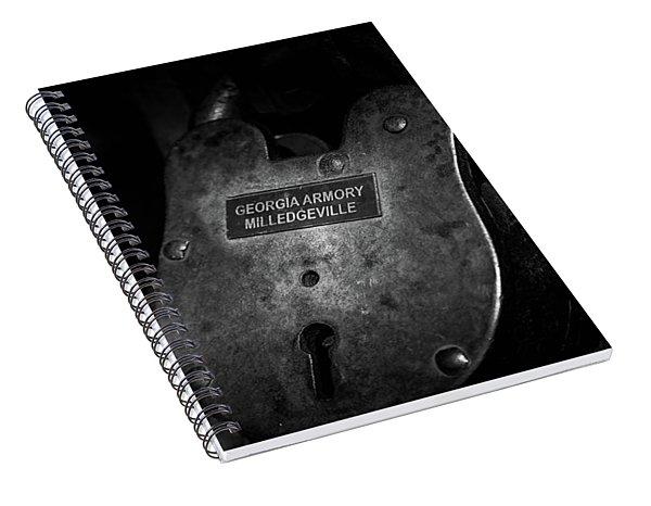 Rusty Lock In Bw Spiral Notebook