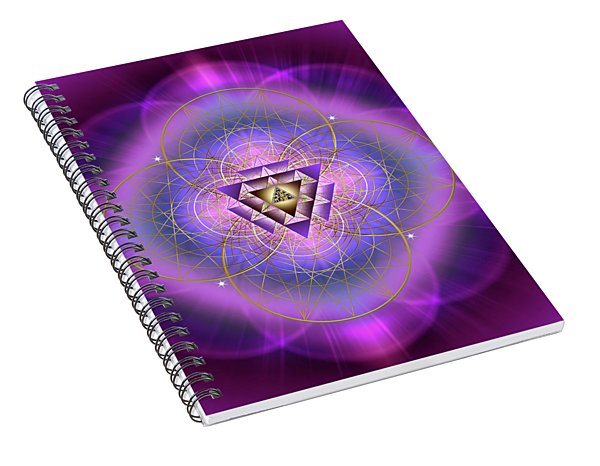 Sacred Geometry 692 Spiral Notebook