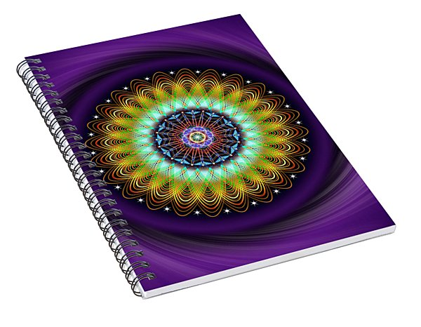 Sacred Geometry 710 Spiral Notebook
