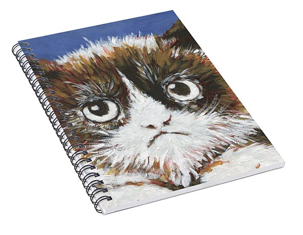 Sad Cat Spiral Notebook