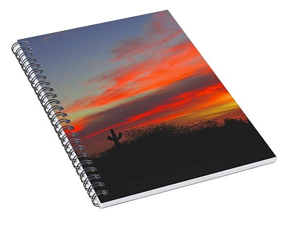 Saguaro Winter Sunrise Spiral Notebook
