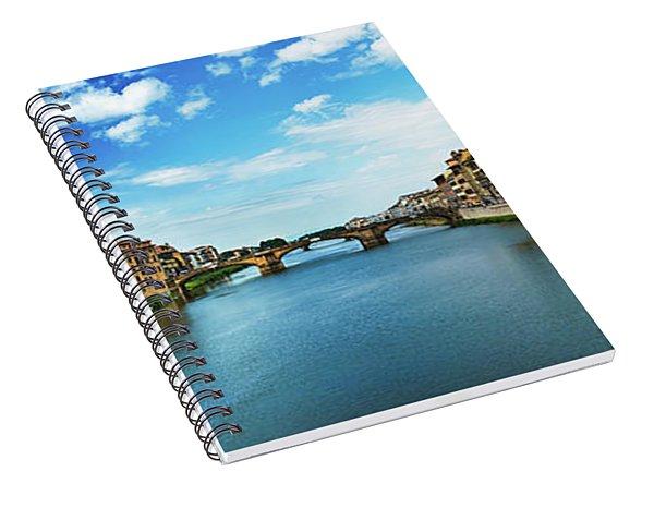 Saint Trinity Bridge From Ponte Vecchio Spiral Notebook