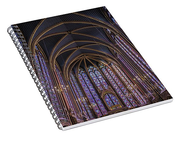 Sainte Chapelle Stained Glass Paris Spiral Notebook
