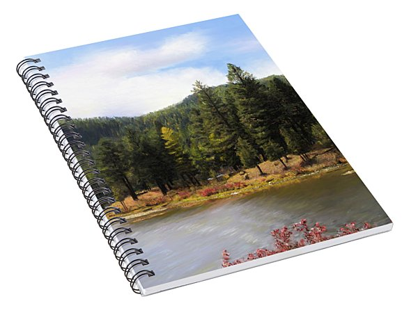 Salmon Lake Montana Spiral Notebook