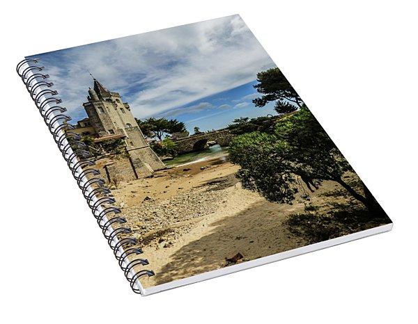Santa Marta Beach In Cascais, Portugal Spiral Notebook
