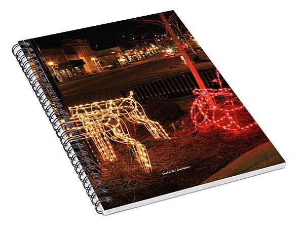 Santas Sleigh Spiral Notebook