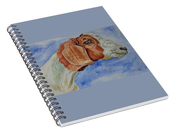 Sara's Goat Spiral Notebook