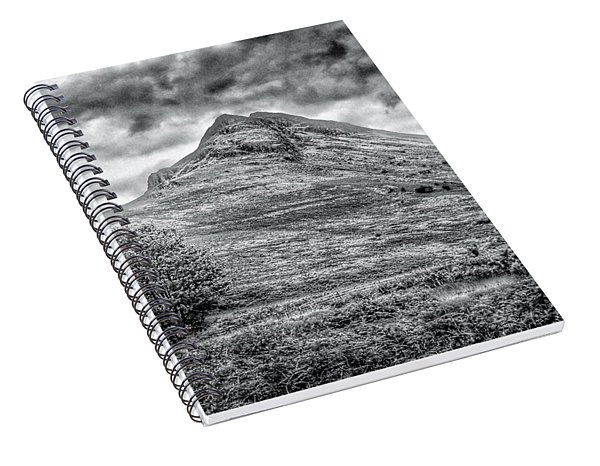 Scafell Pike In Greyscale Spiral Notebook