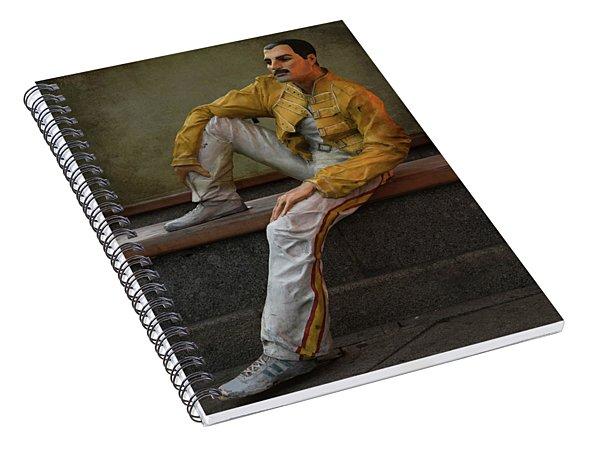 Sculptures Of Sankt Petersburg - Freddie Mercury Spiral Notebook