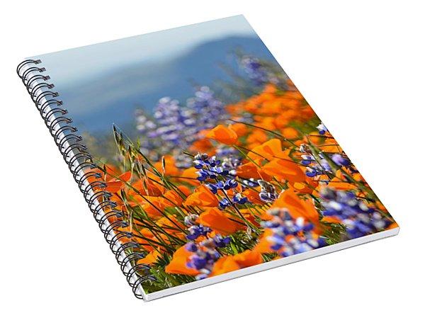 Sea Of California Wildflowers Spiral Notebook