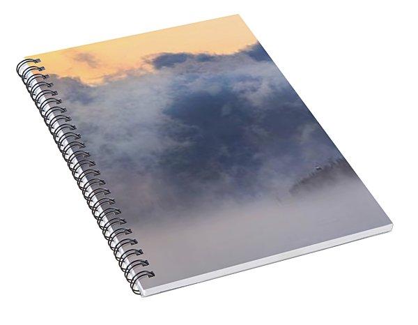 Sea Smoke At Owls Head Panorama Spiral Notebook