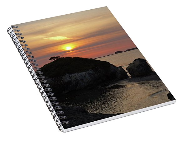 Sea Stack Sunset Spiral Notebook
