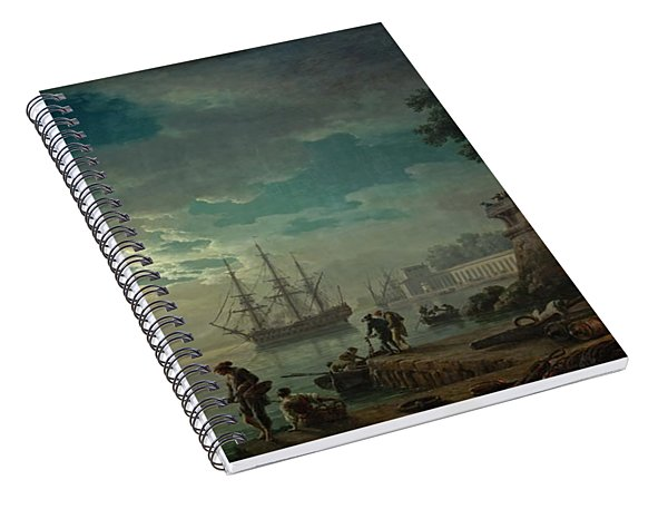 Seaport By Moonlight Spiral Notebook