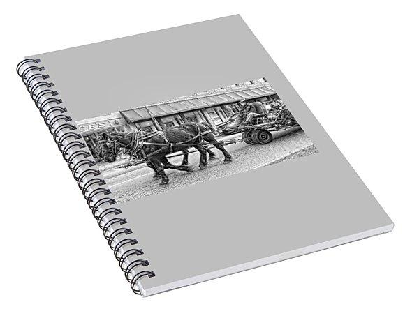 Seasonal Wagon Ride Spiral Notebook