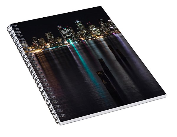 Seattle At Night Spiral Notebook