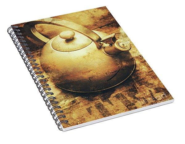 Sepia Toned Old Vintage Domed Kettle Spiral Notebook