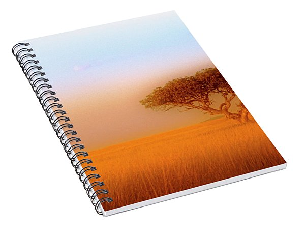 Spiral Notebook featuring the photograph Serengeti by Scott Kemper